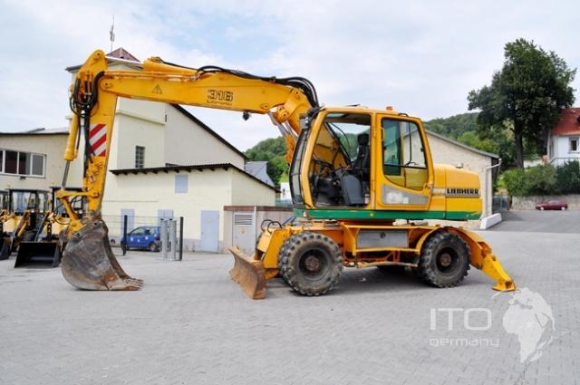Mobile excavator liebherr a316 litronic excavator for Gebraucht mobile