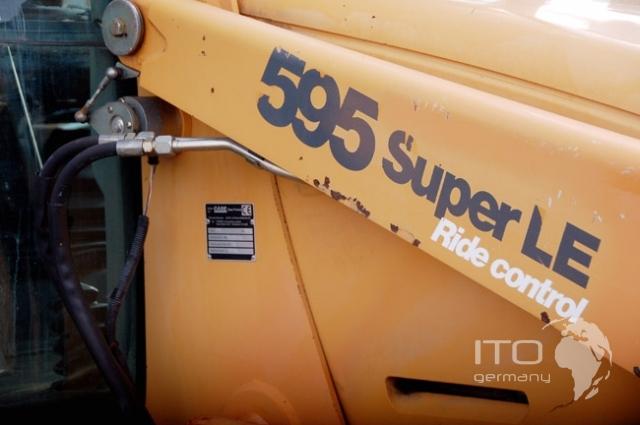 Б/У телескопический погрузчик CASE 595 LE, желтый