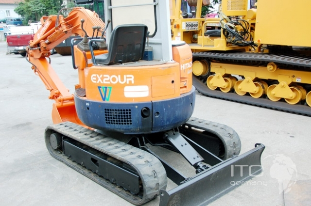 mini excavator hitachi ex20 ur used used machinery. Black Bedroom Furniture Sets. Home Design Ideas